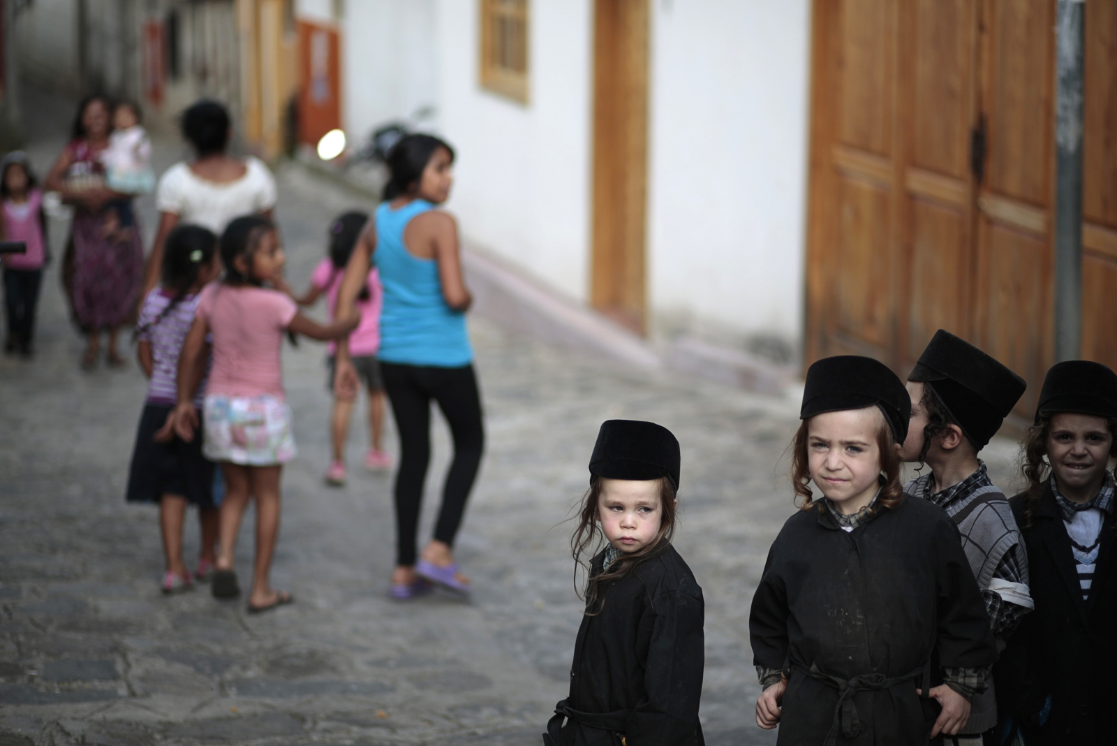 Children of the Lev Tahor in San Juan la Laguna. (Reuters)