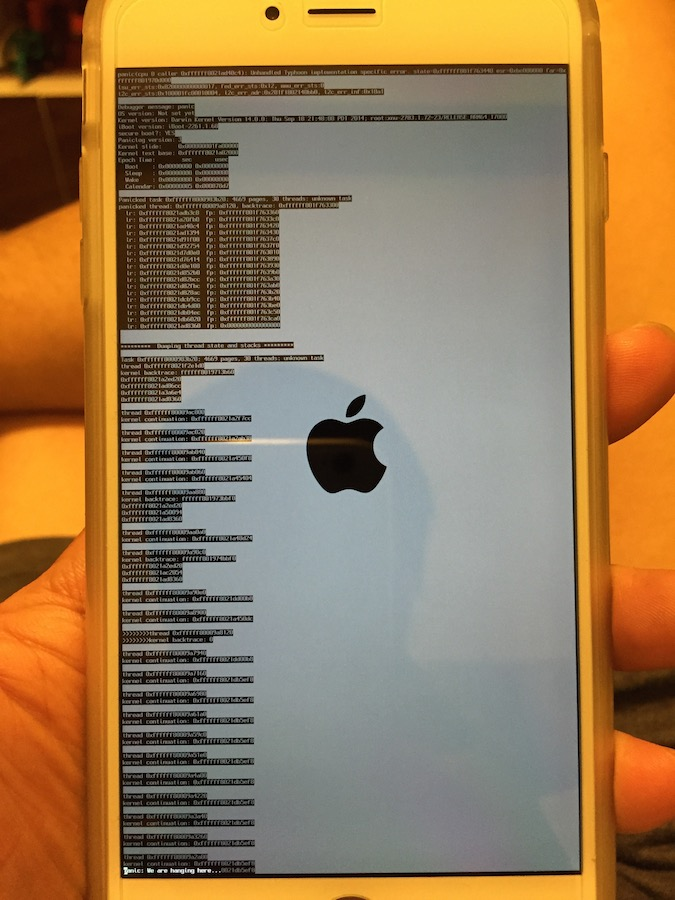 Iphone Screen Blue Crash Apple