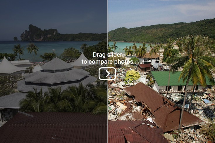 Indian Ocean tsunami before and after