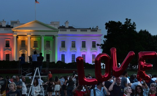 White House in rainbow colour