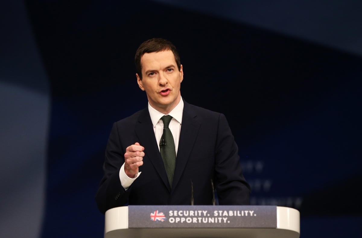 Chancellor George Osborne unveiled the major tax policy at the ...