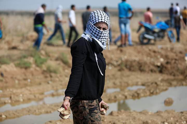 Image result for palestinian woman throwing rocks