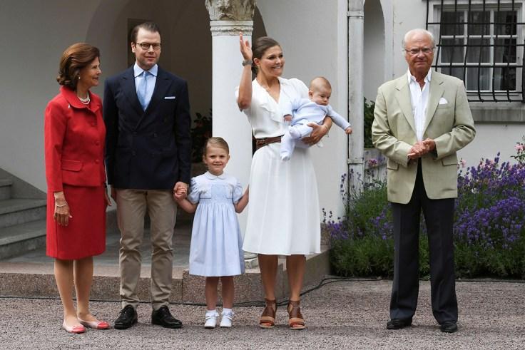 Crown Princess Victoria's birthday  Lovable Prince Alexander of Sweden cradled via glamorous mom Princess Sofia at christening crown princess victorias birthday