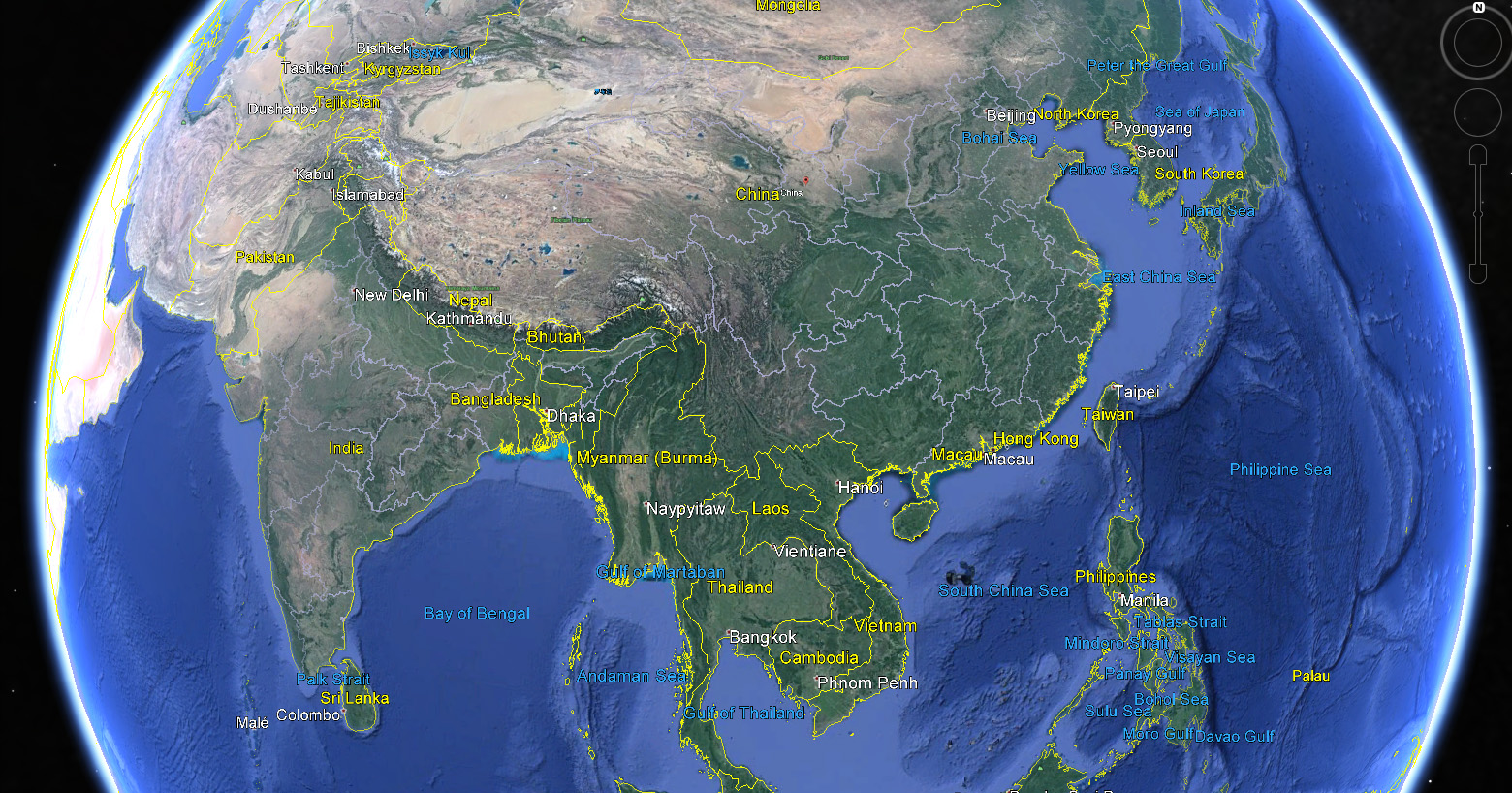 Earth Satellite Maps India - Google earth satellite map