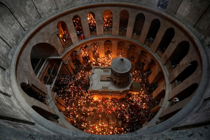 Christian Orthodox Holy Fire ceremony