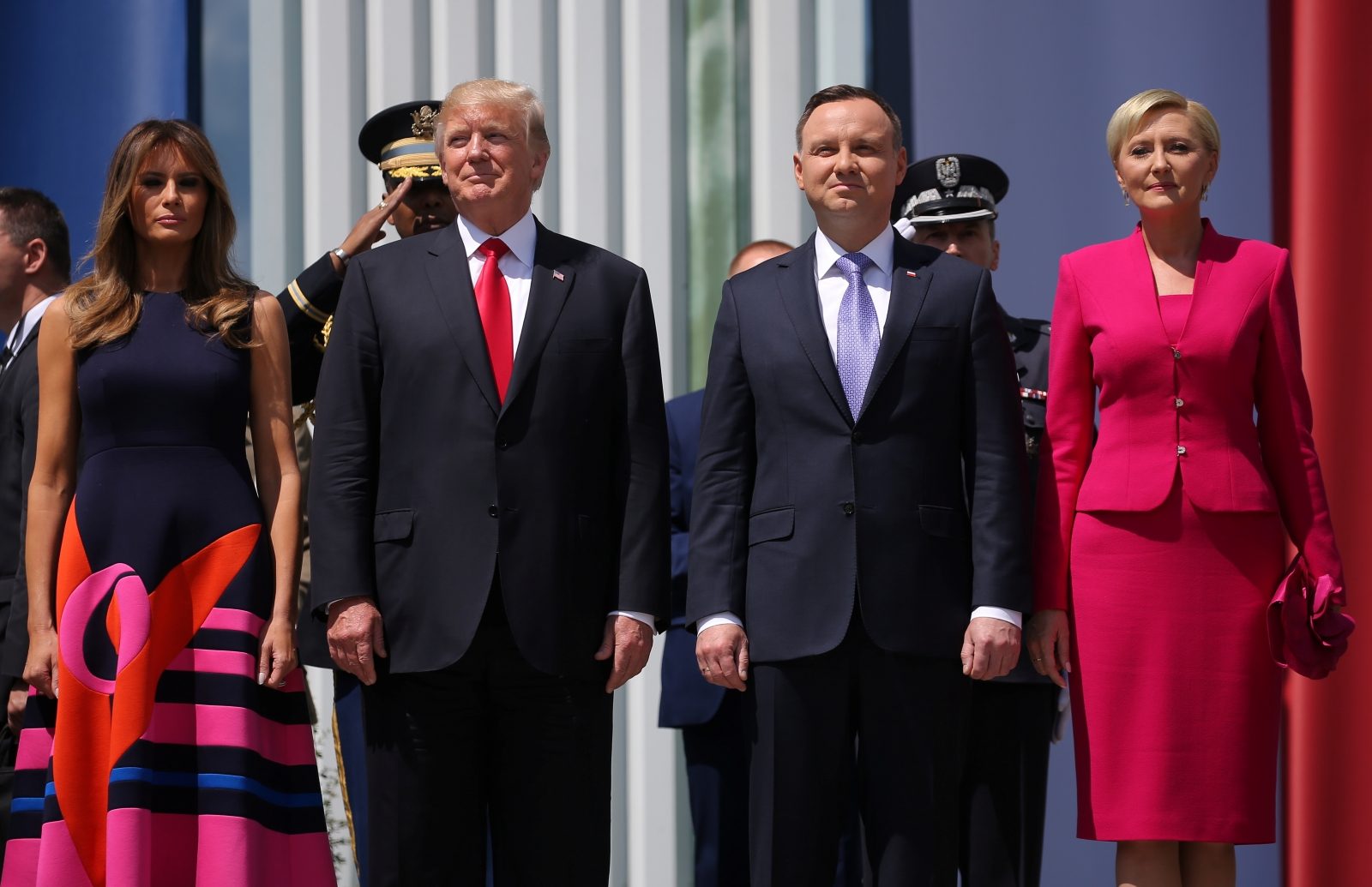 Image result for photos of trump visiting poland