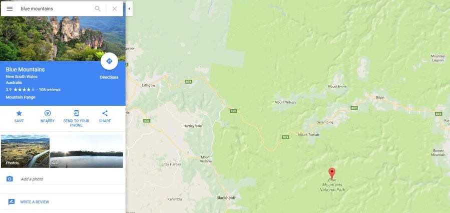 Google Maps glitch sends hundreds of tourists to the middle of nowhere Google Maps glitch Blue Mountains