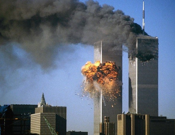 Image result for images of twin tower collapse on 9/11