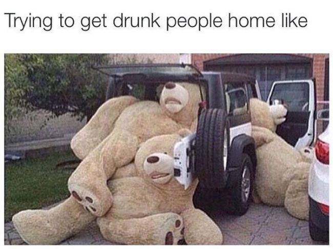Huge Stuffed Teddy Bears Crammed Into An Suv Justpost Virtually
