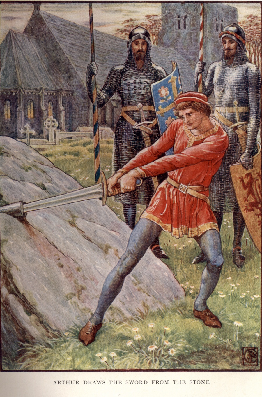 Stone Camelot And Sword