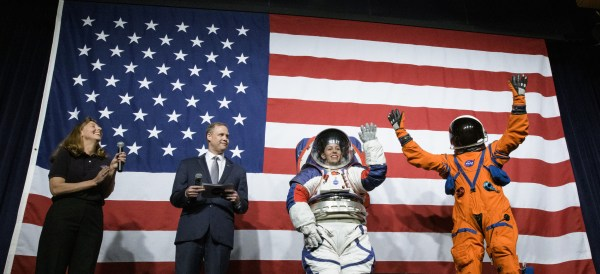 NASA unveils new Spacesuit that first woman on moon will wear