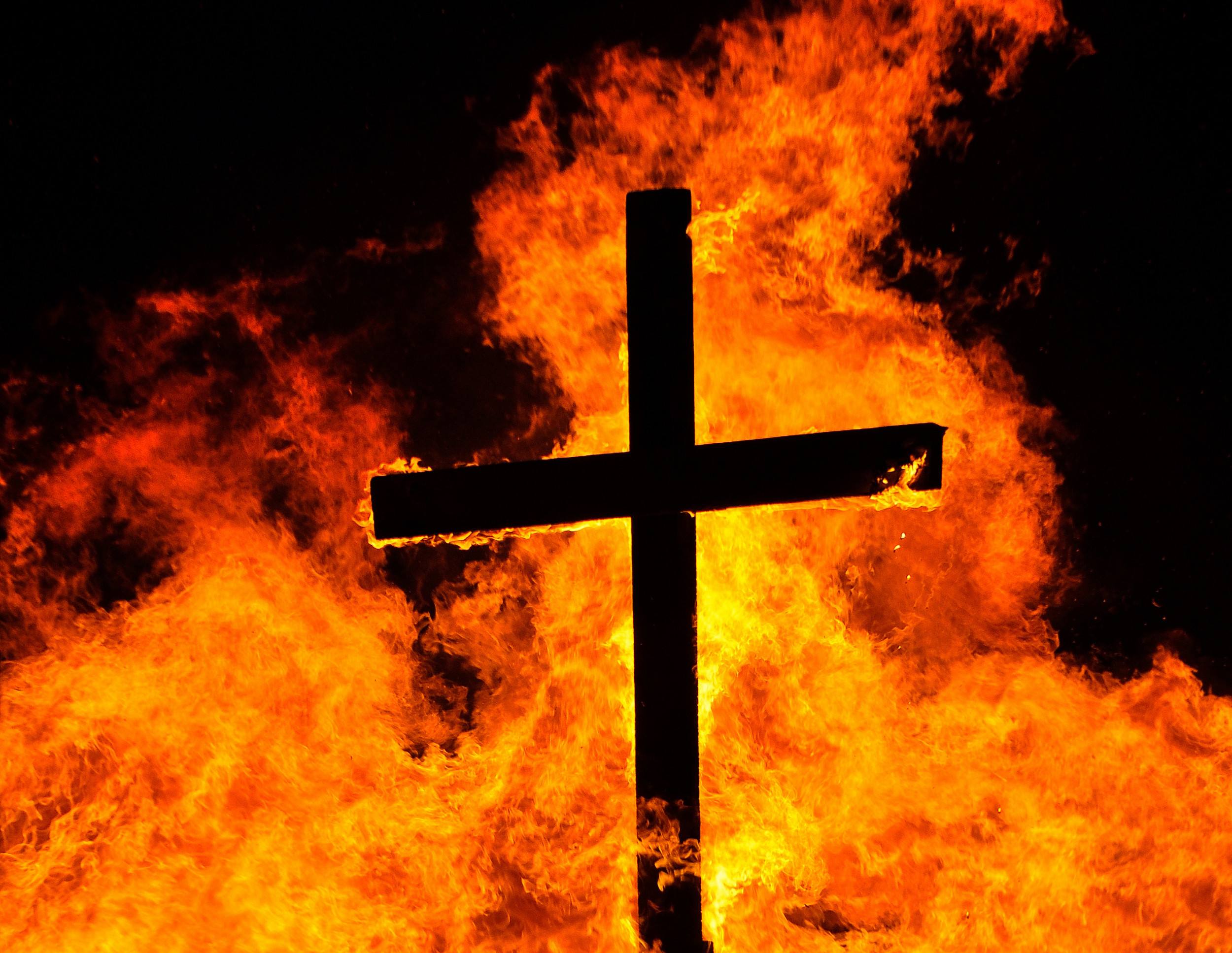 Young Black Activist Has Burning Cross In Yard in Marion Virginia
