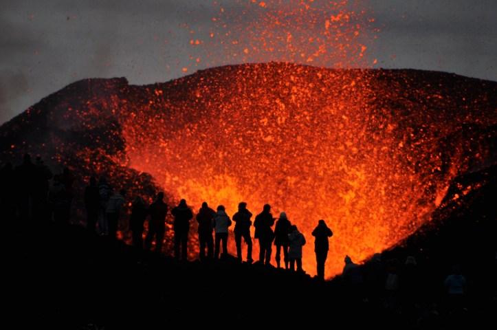 Hero pic erupting volcano