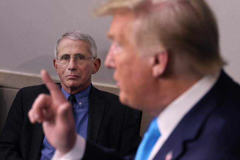 Fauci Trump corornavirus covid-19 pandemic research NIH