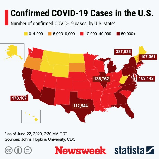 Propagation of COVID-19 cases in the US  USA