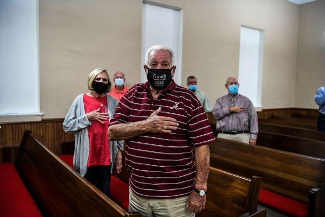 trump supporters pray church 2024