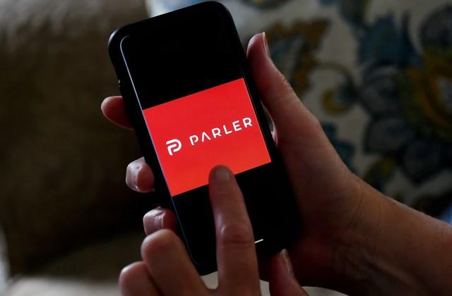 Parler open on cellphone
