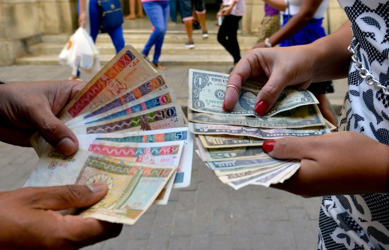 cuba, currency, pesos, dollars, havana
