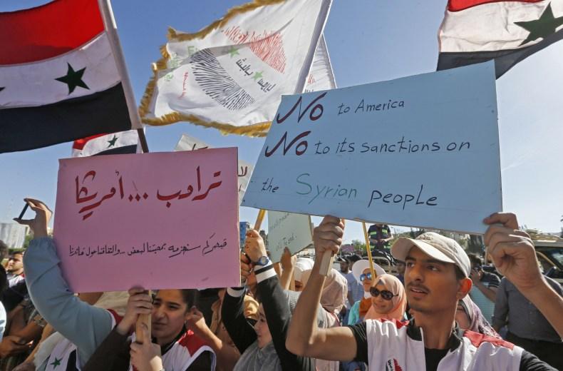 syria, damascus, protest, assad, sanctions