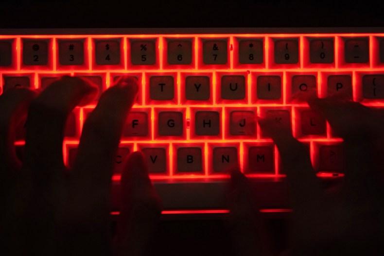 hacking, keyboard