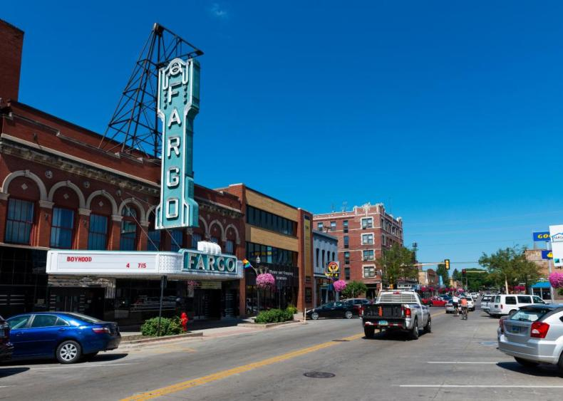 #46. Fargo, North Dakota-Minnesota (tie)