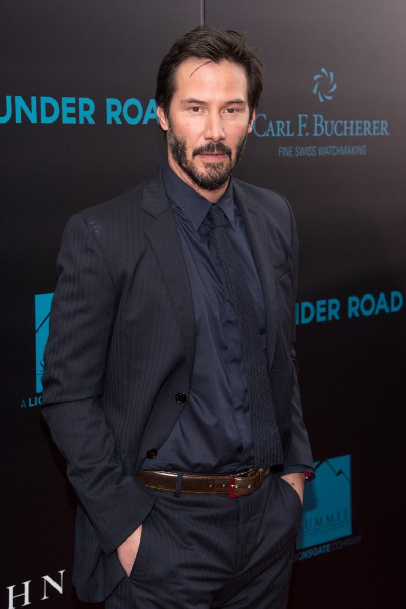 Keanu Reeves at John Wick premiere