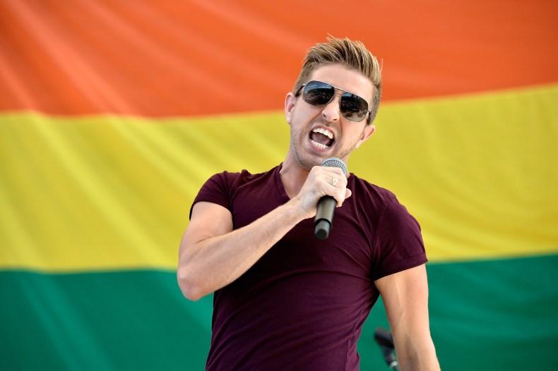 Billy Gilman sings at Pride