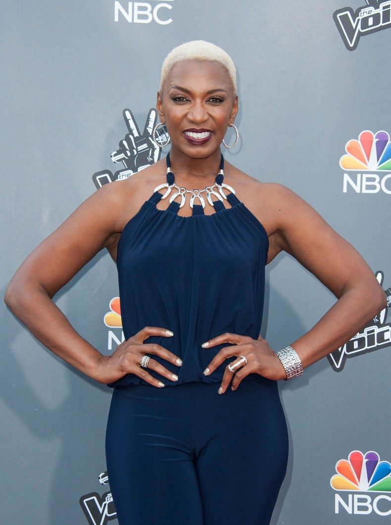 Sisaundra Lewis at The Voice event