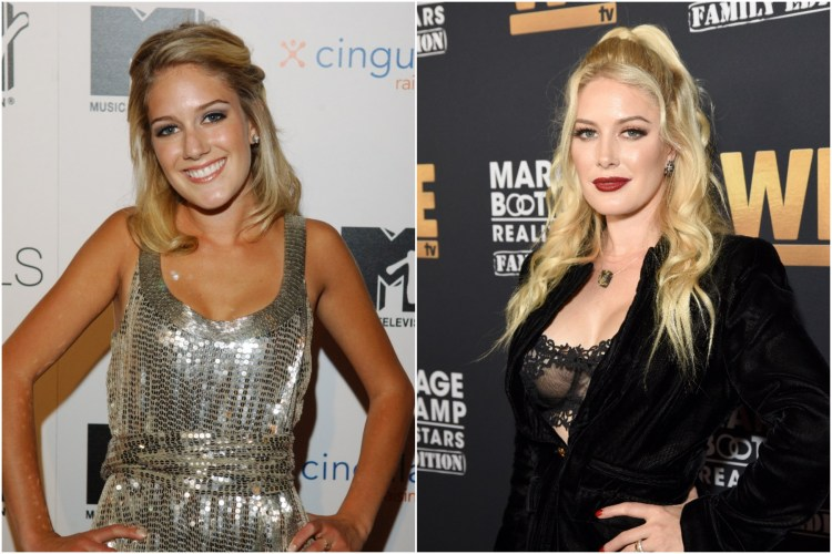 Heidi Montag then and now