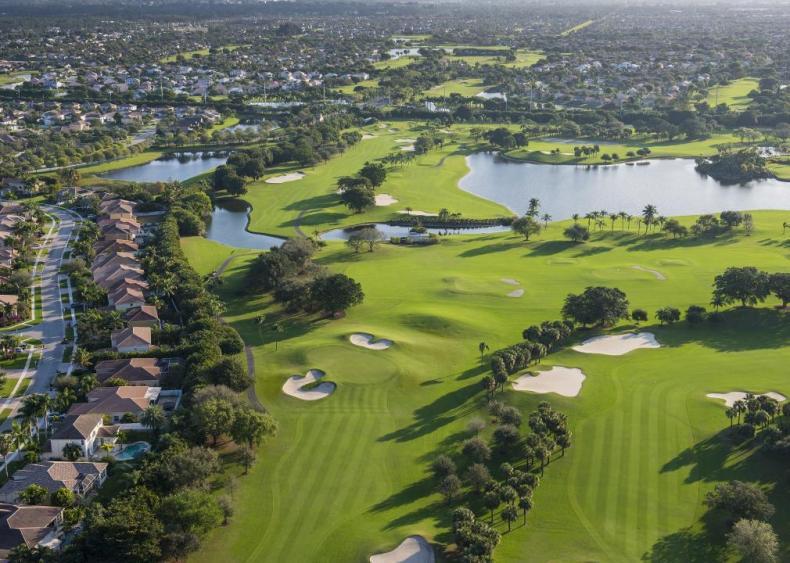 US golf destinations with the most courses per capita