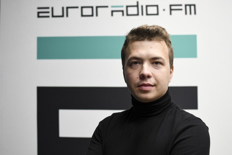 Raman Pratasevich in Minsk