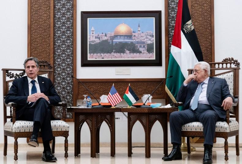 Secretary of State Blinken With Palestinian President