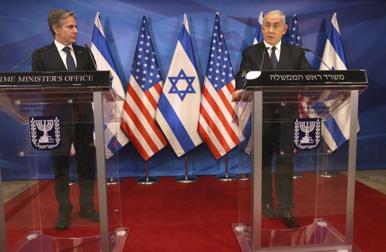 Secretary of State Blinken With Israeli PM
