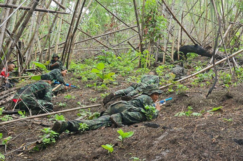 Karen, State, rebels, train, for, conflict, Myanmar