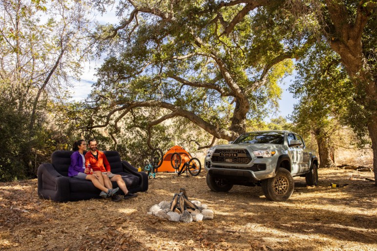 2022 Toyota Tacoma Trail Edition camping