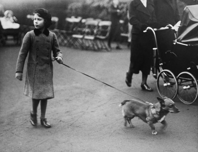 Princess Elizabeth Walks Corgi Before Becoming Queen