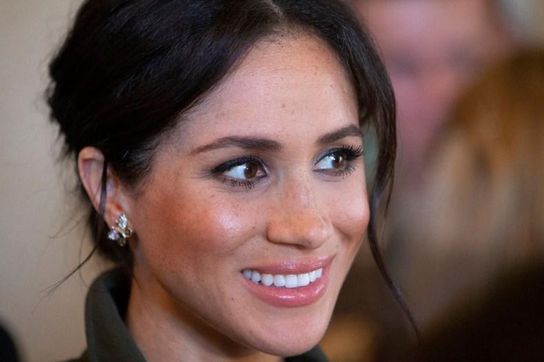 Meghan Markle Wearing Princess Diana's Earrings
