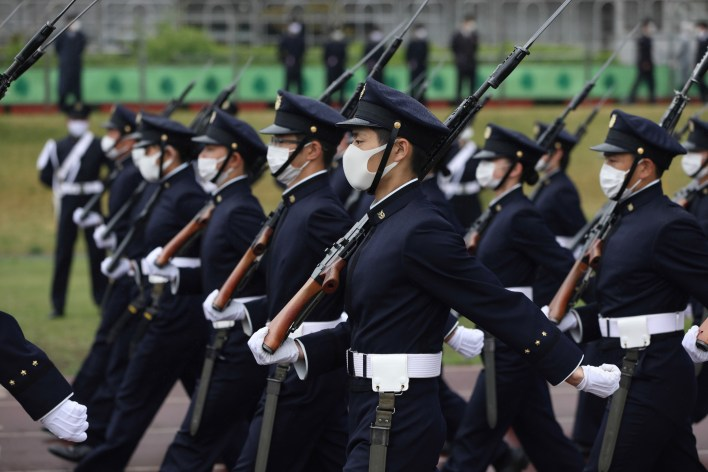 Japan Defense Academy Performs Military Parade