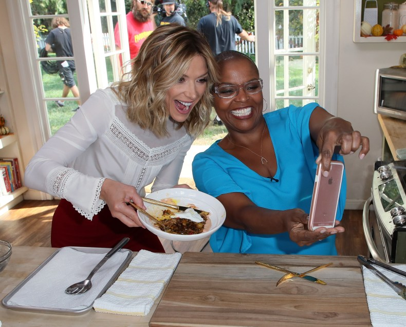Debbie Matenopoulos and chef Tanya Holland
