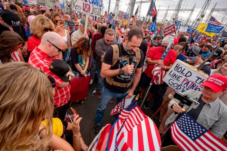 Trump supporters pray