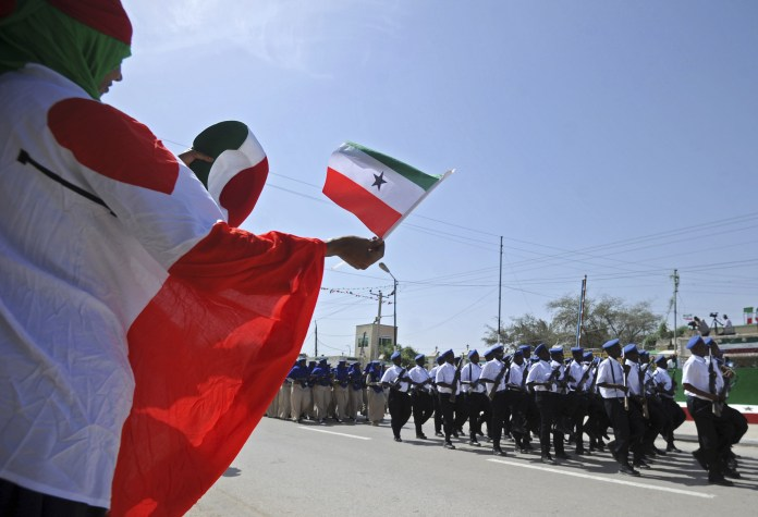 People wave Somaliland flags
