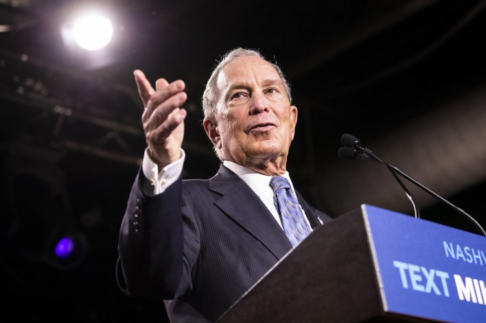 Michael Bloomberg at campaign rally