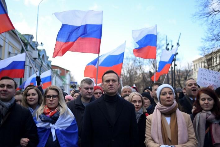 Russian opposition politician Alexei Navalny