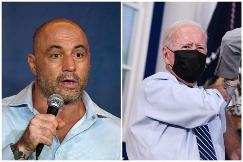 Joe Rogan and Joe Biden