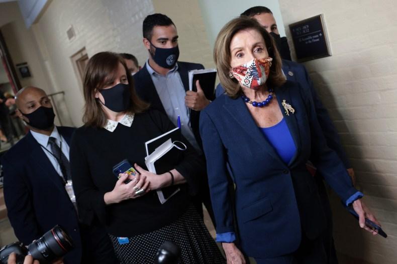 Nancy pelosi infrastructure spending bill progressives Manchin
