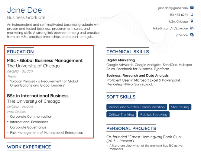 How To Make A Resume With No Experience