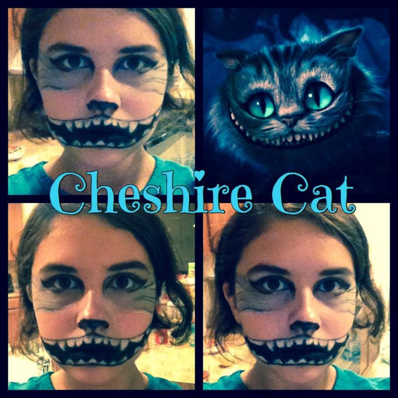 My Cosplay Makeup Cheshire Cat Tim Burton S Alice In Wonderland