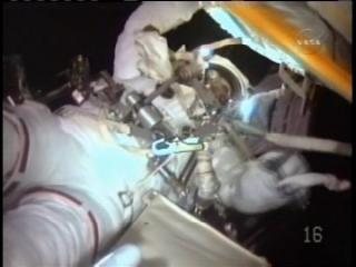 Endeavour's astros second spacewalk
