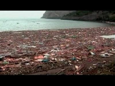 Tsunami ravages Chile's islands