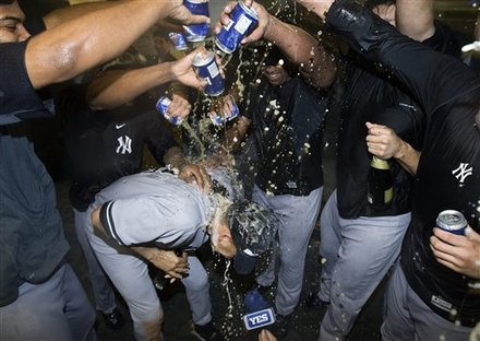 New York Yankees Dump Their Beers